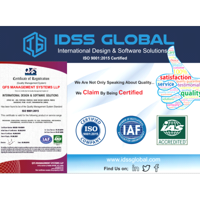 IDSS Global is now ISO 9001: 2015 certified.