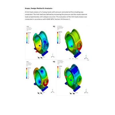 FEA Stress Simulation for DESIGN Evaluation of CHLORINE GAS COMPRESSOR Geometry